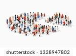 population demographics report  ... | Shutterstock .eps vector #1328947802
