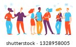 people working together as a... | Shutterstock .eps vector #1328958005