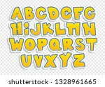 Cheerful  Colorful Font. Vecto...