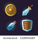 set of vector icons  objects ... | Shutterstock .eps vector #1328965685