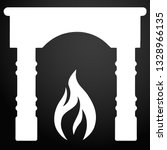 fireplace icon vector. simple... | Shutterstock .eps vector #1328966135