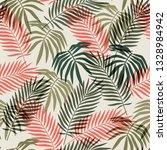 seamless vintage floral pattern ... | Shutterstock .eps vector #1328984942