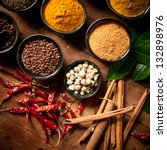 cooking ingredients spice | Shutterstock . vector #132898976