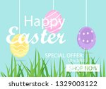 easter sale banner background...   Shutterstock .eps vector #1329003122