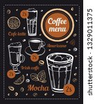 coffee menu design template.... | Shutterstock .eps vector #1329011375