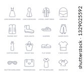 set of 16 thin linear icons... | Shutterstock .eps vector #1329025592