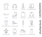 set of 16 thin linear icons... | Shutterstock .eps vector #1329025595