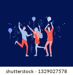 team people moving. business... | Shutterstock .eps vector #1329027578