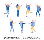 people characters man and woman ... | Shutterstock .eps vector #1329028148