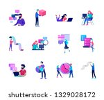 business and management icons... | Shutterstock .eps vector #1329028172