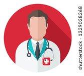 vector medical doctor icon.... | Shutterstock .eps vector #1329028268