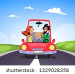 travel and journey concept.... | Shutterstock .eps vector #1329028358