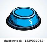 big domestic pet meal pin shape ... | Shutterstock .eps vector #1329031052