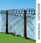 old obstacle spiral spike... | Shutterstock .eps vector #1329031058