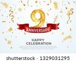 9 years anniversary vector... | Shutterstock .eps vector #1329031295