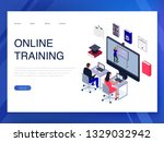 people training online... | Shutterstock .eps vector #1329032942