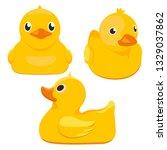 toy rubber duck | Shutterstock .eps vector #1329037862