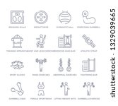 set of 16 thin linear icons... | Shutterstock .eps vector #1329039665
