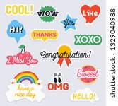 social network stickers with...