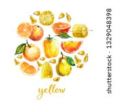 watercolor illustration with... | Shutterstock . vector #1329048398