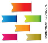 color labels  isolated on white ... | Shutterstock . vector #132907076