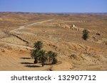 Tamezret desert in Tunisia - stock photo