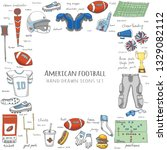 hand drawn doodle american...   Shutterstock .eps vector #1329082112