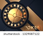 casino roulette wheel isolated... | Shutterstock .eps vector #1329087122