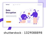 vector data encryption web page ... | Shutterstock .eps vector #1329088898