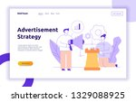 vector advertisement and...   Shutterstock .eps vector #1329088925