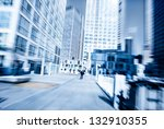 people walking in the business... | Shutterstock . vector #132910355