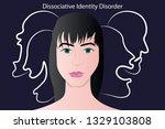 dissociative identity disorder... | Shutterstock .eps vector #1329103808