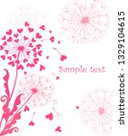 Greeting Card With Cute Pink...
