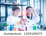 students or teenager educate in ... | Shutterstock . vector #1329109475