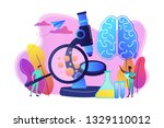 tiny people scientists study... | Shutterstock .eps vector #1329110012