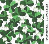 floral vecror seamless pattern... | Shutterstock .eps vector #1329165185