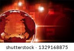red digits and glowing light on ...   Shutterstock .eps vector #1329168875