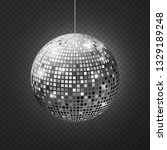 mirror disco ball. soffit... | Shutterstock .eps vector #1329189248