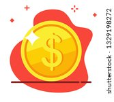 coin isometric icon. dollar... | Shutterstock .eps vector #1329198272