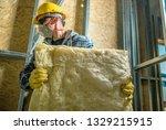 caucasian construction worker... | Shutterstock . vector #1329215915