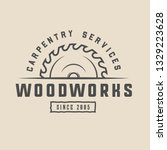 vintage carpentry  woodwork and ...   Shutterstock .eps vector #1329223628