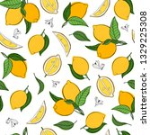 vector seamless pattern with... | Shutterstock .eps vector #1329225308