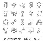 set of award line icons  such... | Shutterstock .eps vector #1329225722