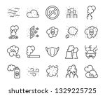 set of air pollution icons ... | Shutterstock .eps vector #1329225725