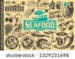seafood restaurant design... | Shutterstock .eps vector #1329231698