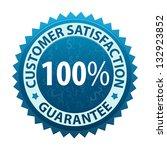 customer satisfaction guarantee ... | Shutterstock . vector #132923852
