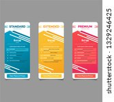 collection of pricing plans for ... | Shutterstock .eps vector #1329246425