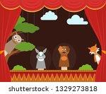cartoon children puppet theater ...   Shutterstock .eps vector #1329273818