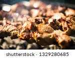 close up view of skewers with... | Shutterstock . vector #1329280685