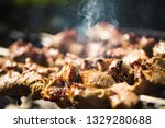 close up view of skewers with... | Shutterstock . vector #1329280688